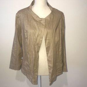 Lane Bryant Tan Stretch Linen Jacket Size 14 NWT